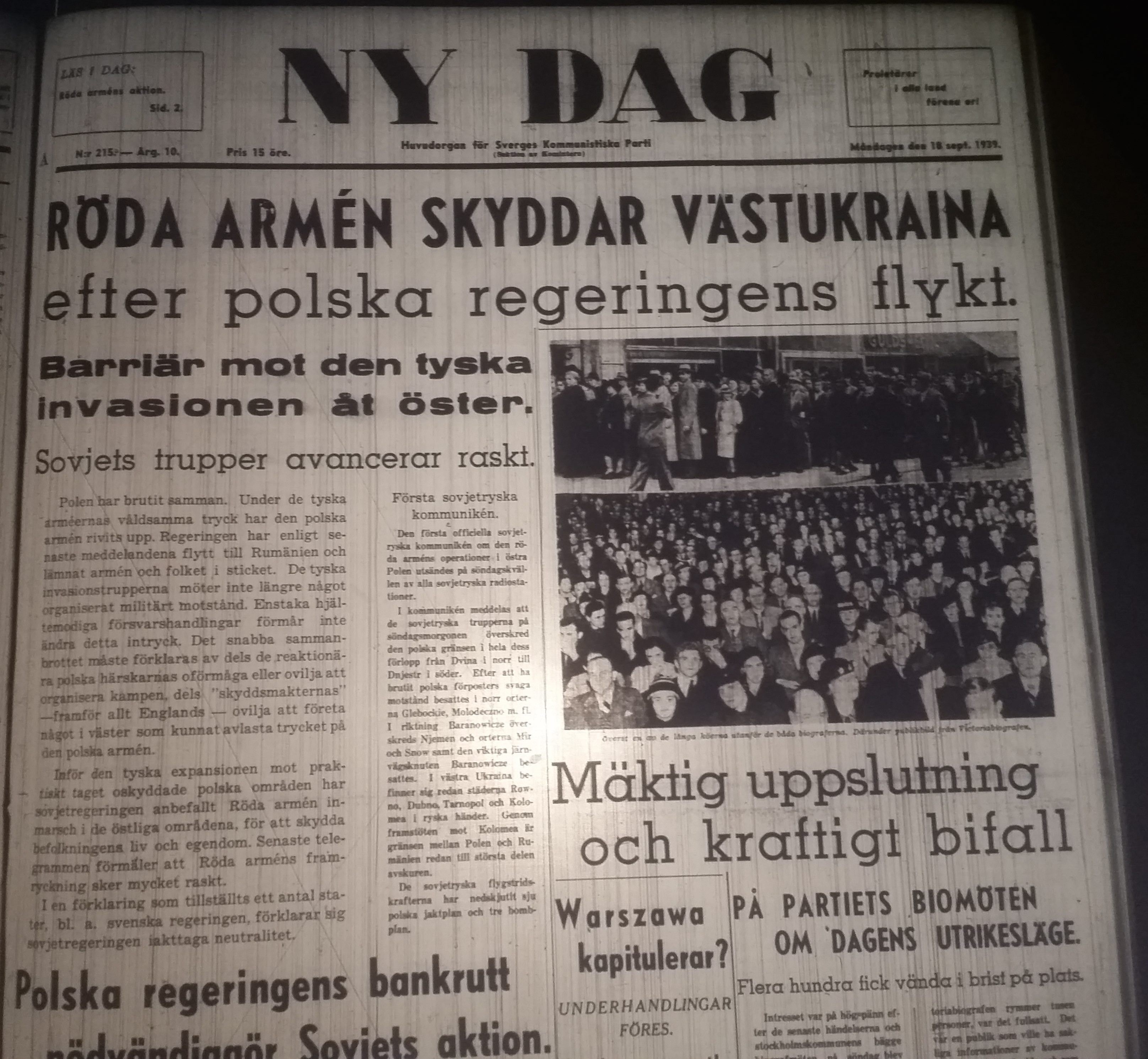 Ny Dag 1939-09-18