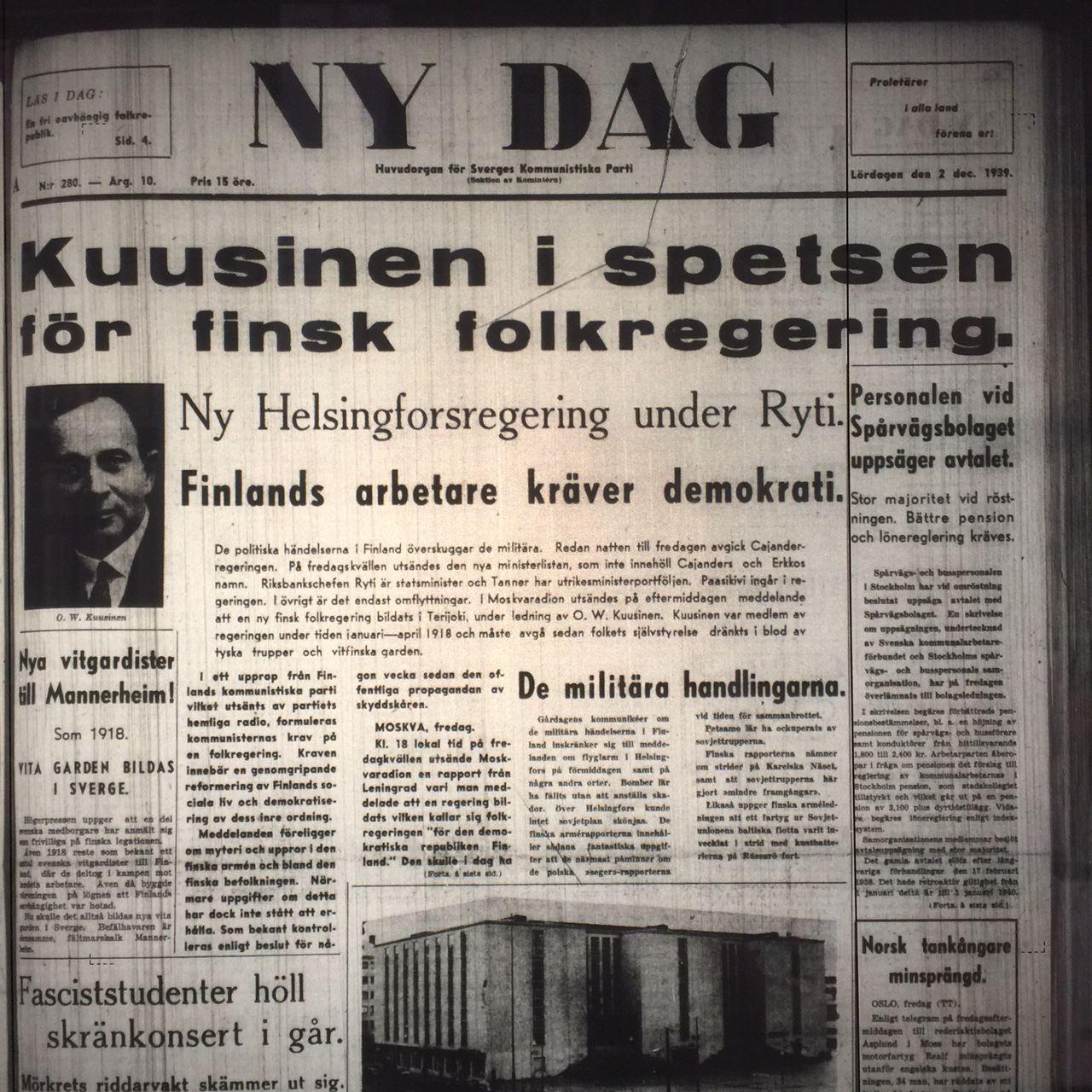 NY DAG 2 dec 1939